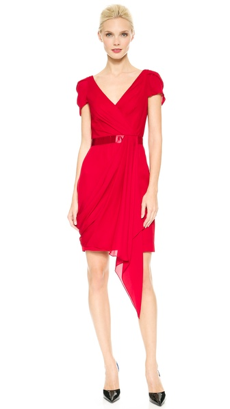 Notte by Marchesa Draped Cocktail Dress