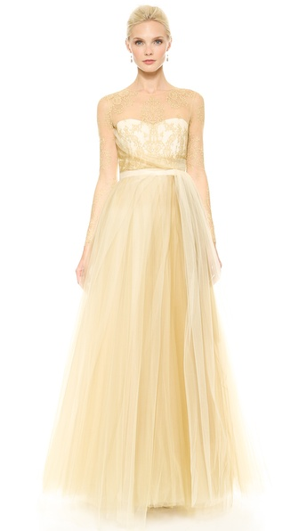 Notte by Marchesa Ball Gown with Tulle Skirt