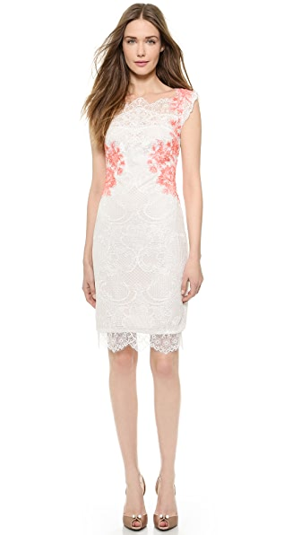 Cocktail Cocktail Cap Sleeve Cocktail Dress (White)
