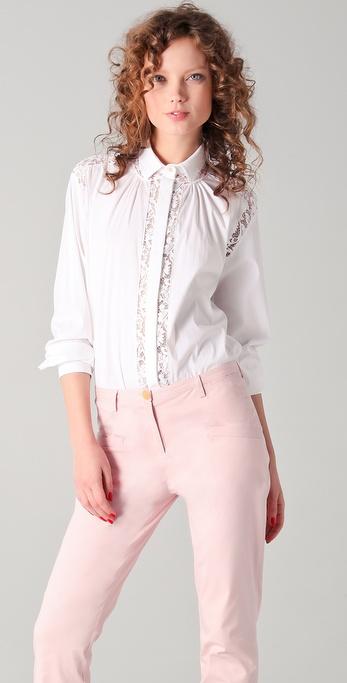 21|花边细节女式衬衫|shopbop