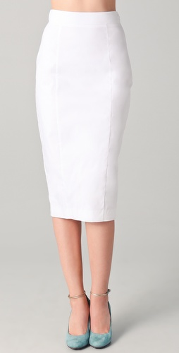 No. 21 Pencil Skirt with Zipper Detail