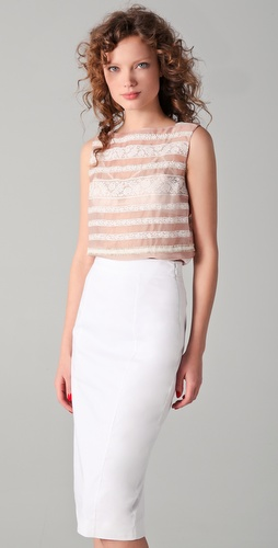 No. 21 Sleeveless Shirt with Lace Detail
