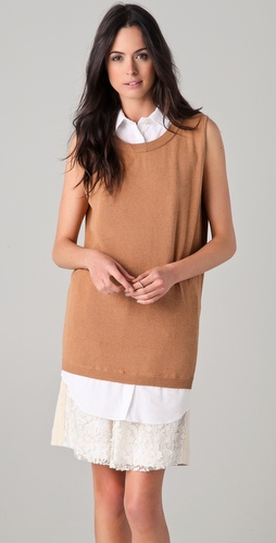 No. 21 Sleeveless Sweater with Collar