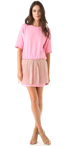 Shop No. 21 Short Sleeve Dress with Pleated Skirt and No. 21 online - Apparel,Womens,Dresses,Day, online Store