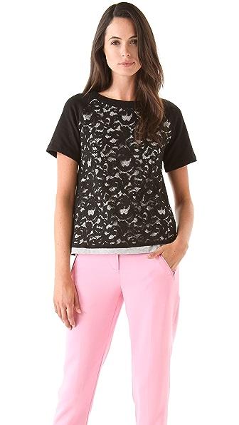 No. 21 Sweatshirt with Lace Overlay