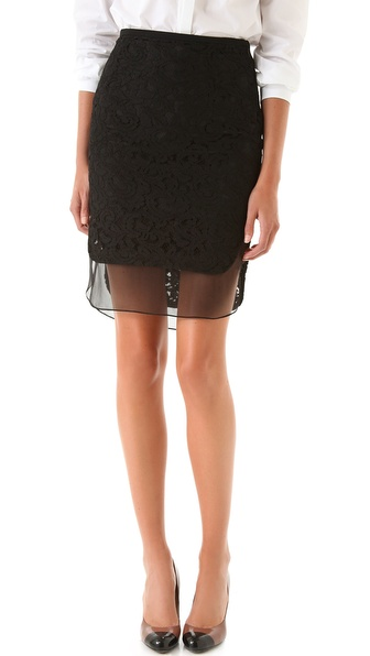 No. 21 Lace Pencil Skirt