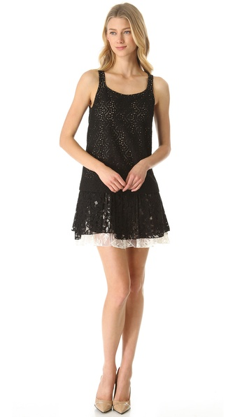 No. 21 Tiered Eyelet Tank Dress