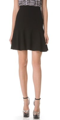 No. 21 Black Flounce Bottom Skirt