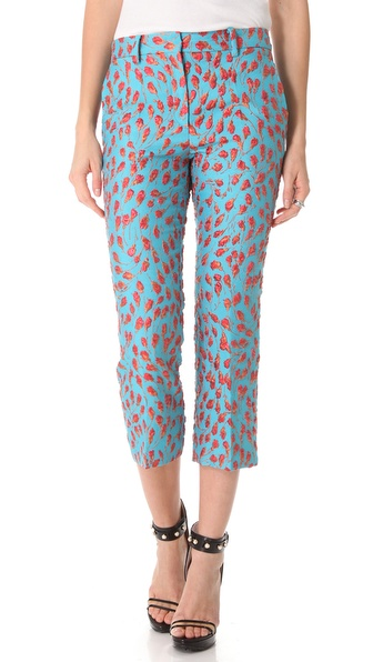 No. 21 Jacquard Cropped Pants
