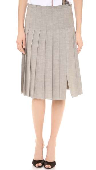 No. 21 Pleated Grey Skirt
