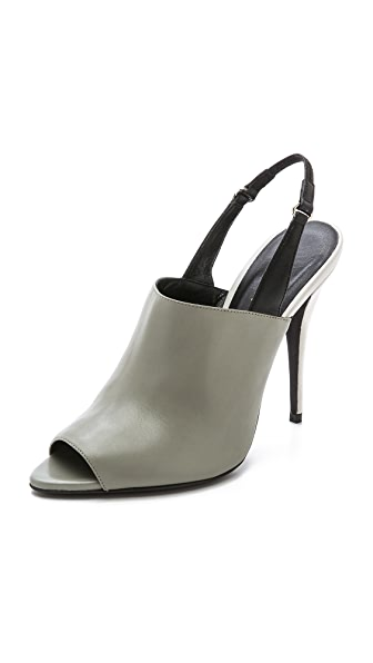Narciso Rodriguez Cindy Slingback Sandals - Slate/Dove Grey