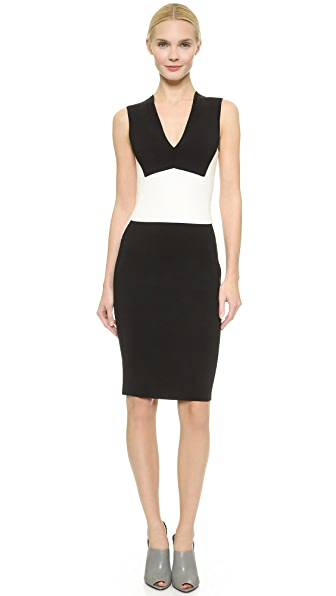 Narciso Rodriguez Knit Sheath Dress - Black/White