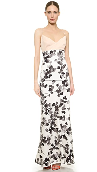 Narciso Rodriguez Watercolor Floral Silk Gown - Multi