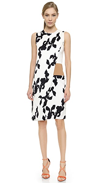 Narciso Rodriguez Vine Overlay Dress - White/Black