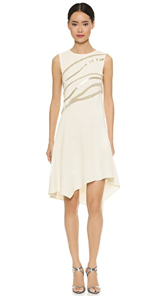 Narciso Rodriguez Sleeveless Beaded Dress - White