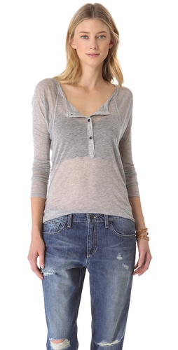 Shop NSF Miro Long Sleeve Henley - NSF online - Apparel,Womens,Tops,Tee, at Lilychic Australian Clothes Online Store