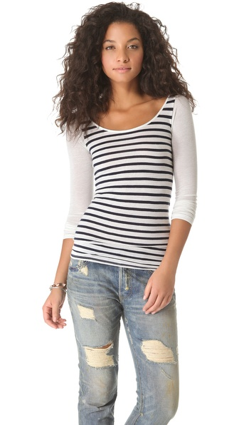 NSF Carly Long Sleeve Stripe Top