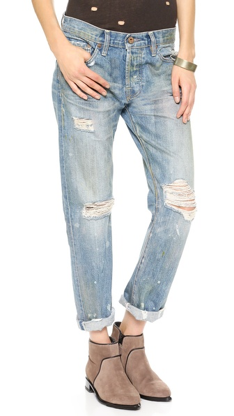 NSF Beck Destroyed Boyfriend Jeans
