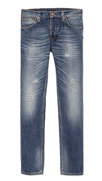 Nudie Jeans Co. Grim Tim Org. Mended Jeans