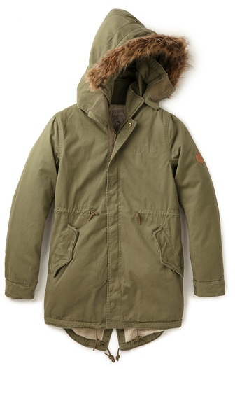 Native Youth Sherpa Lined Parka
