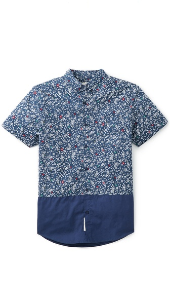Native Youth Floral Print Shirt