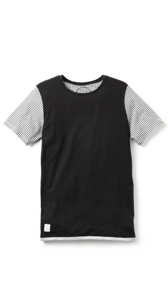 Native Youth Gingham Sleeve T-Shirt