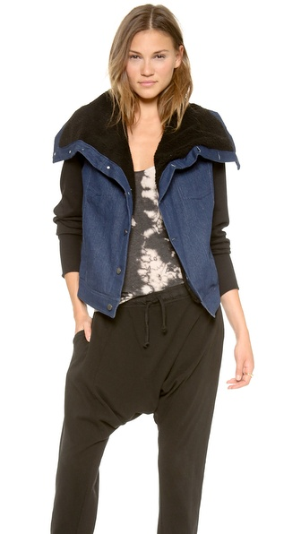 Oak Sherpa Square Collar Jacket