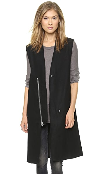 Oak Lapel Zip Vest