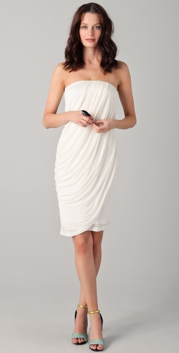 Obakki Elsa Strapless Draped Dress
