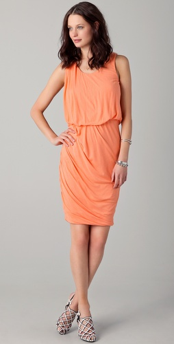 Obakki Helena Sleeveless Draped Dress