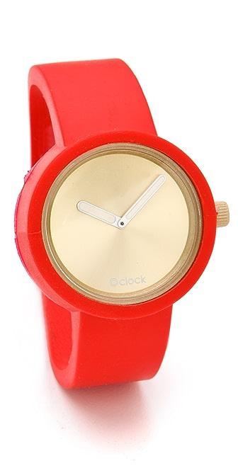 O 39 clock gold face watch shopbop - Numberless clock ...