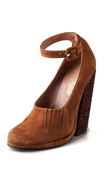 Opening Ceremony par Robert Clergerie Paul Suede Platform Pumps