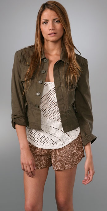 Of Two Minds Reconstructed Army Jacket