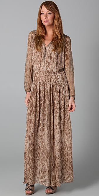 Of Two Minds Daria Long Snake Print Dress