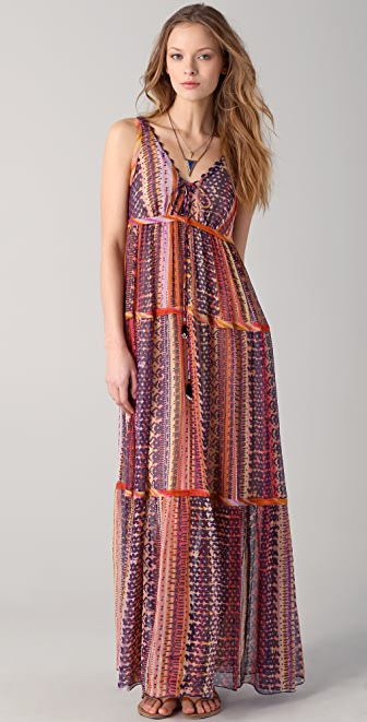 Of Two Minds Debi Rainbow Warrior Maxi Dress