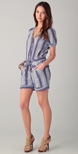 Of Two Minds Petunia Patchwork Romper