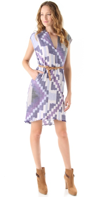 Of Two Minds Pixelated Ikat Deari Dress