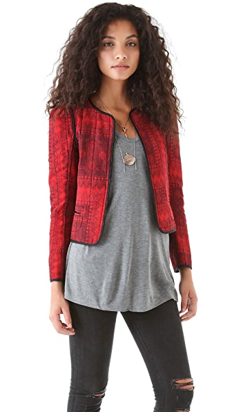 Of Two Minds Jenelle Quilted Silk Jacket