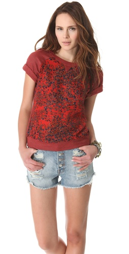 Of Two Minds Leopard Petal Print Tuki Top