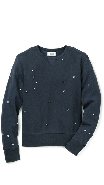 Officine Generale Cross Embroidery Sweatshirt