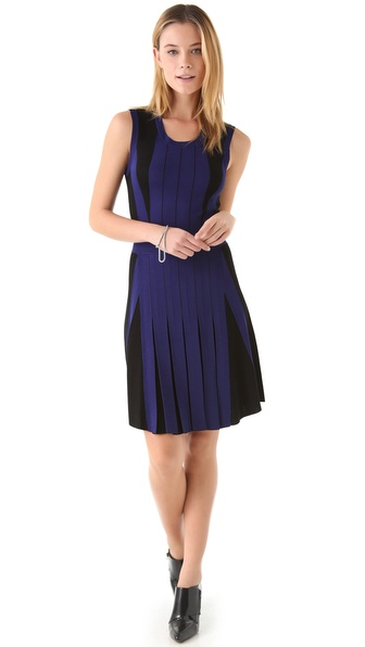 Ohne Titel Two Tone Knit Pleated Dress