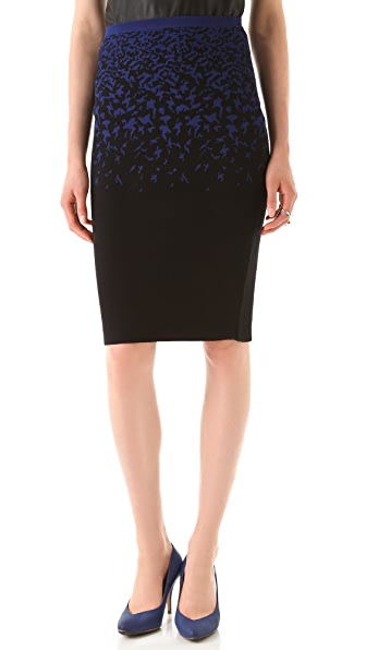 Ohne Titel Print Knit Pencil Skirt