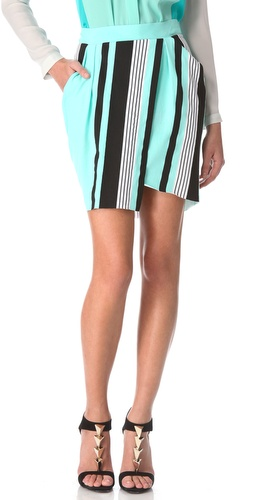 Ohne Titel Stripe Jersey Wrap Skirt