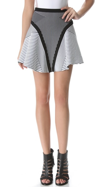Ohne Titel Banded Maze Skirt