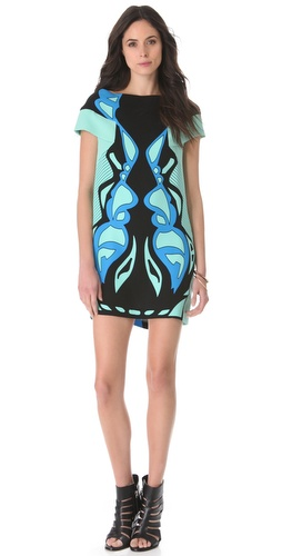 Ohne Titel Strapless Curving Print Dress
