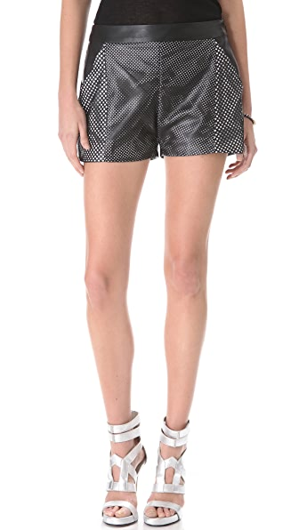Ohne Titel Leather Perforated Shorts