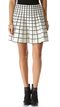 Ohne Titel Grid Knit Skirt