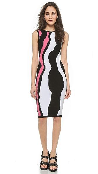 Kupi Ohne Titel haljinu online i raspordaja za kupiti Ohne Titel Intarsia Tank Dress Black-Pink online
