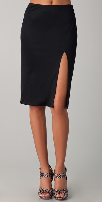 Olcay Gulsen High Split Skirt