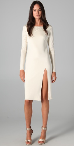 Olcay Gulsen Wide Neck Dress